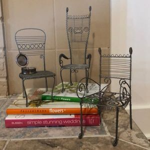 Decorative Wire Chairs